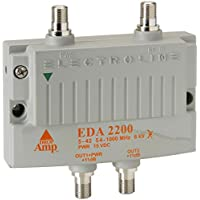 Electroline EDA2200 2-port Low Noise CATV Amplifier +11dB