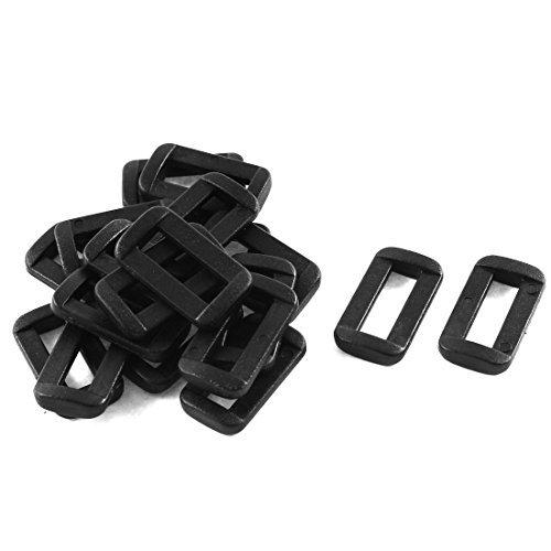 - EbuyChX Plastic Bar Slides Buckles 20pcs Black para sa 15mm Webbing Strap