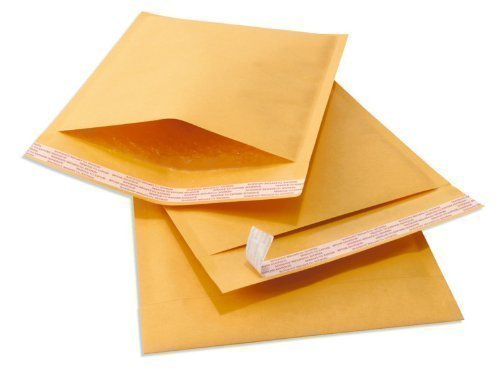 2 Padded Mailers - KKBESTPACK Kraft Self Seal Bubble Mailer Padded Envelopes, 2, 8.5