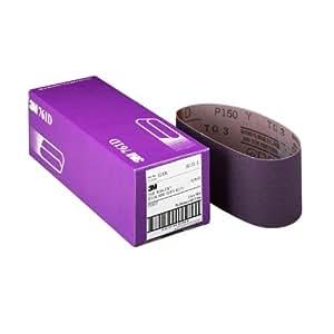 3M 81434 4-Inch by 24-Inch Purple Regalite Resin Bond 150 Grit Cloth Sanding Belt - 5 Pack