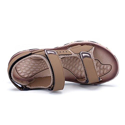 Gli Uomini Sandali Maschile su Marrone Casual Sandali Piede Confortevole Estate Scarpe Chiaro Qianliuk per Sqwvq