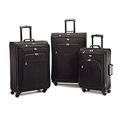 American Tourister At Pops Plus 3 Piece Nested Set, Black