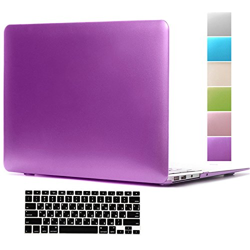 Macbook Pro 15 Inch Case,Hica Ultra Slim Lightweight Rubberized Metal Texture Matte Protective Hard Cover Case with Keyboard Cover for Macbook Pro 15.4