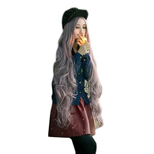 Photo Pal 100cm Cosplay Perruque Femme Longue Ondulée Cheveux Synthétiques Halloween Soirée Déguisement