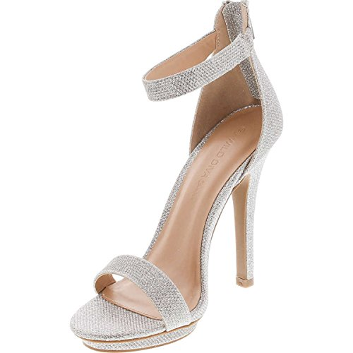 Pictures of Wild Diva Womens Open Toe Ankle Strap Champagne 4
