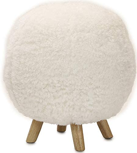 Critter Sitters 19″ Seat Height Plush Pouf White