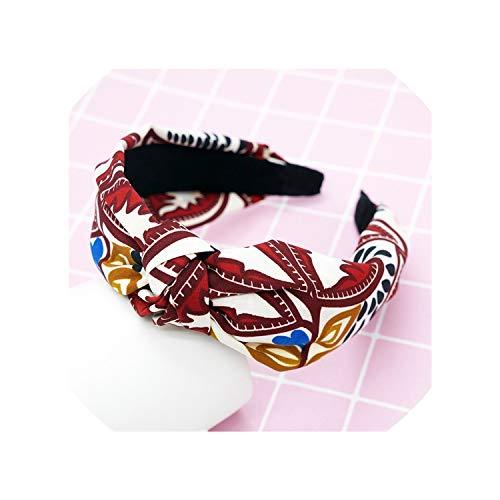 (1 Pc Women Bezel Fashionn Style Hairband Female Girls Casual Elegant Cloth Cross Hair Accessories Headwear )