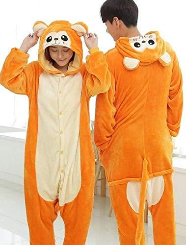 KRAZY TOYS Pijama Animal Entero Unisex para Adultos como Ropa de Dormir-Traje de Disfraz para Festival de Carnaval (Mono Oro, S/M)