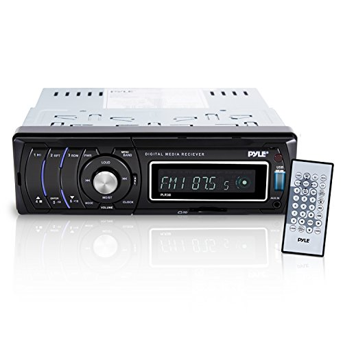 Premium Car Stereo Media Radio Headunit Receiver – LCD Digital Display with AM- FM Radio and Multimedia Aux MP3 and Video Input, USB Drive & More