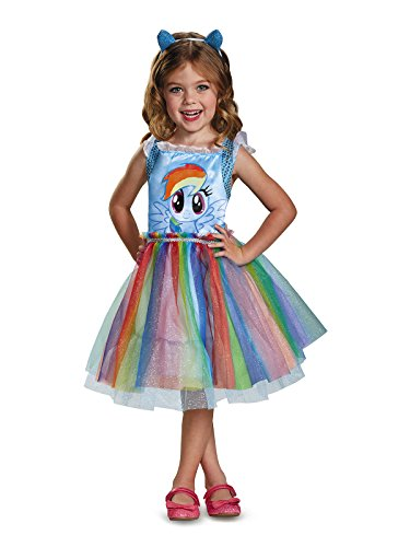 Rainbow Dash Movie Toddler Classic Costume, Blue, Medium (3T-4T) ()