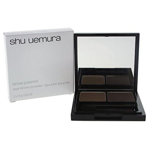 Shu Uemura Brow Palette for Women Eyebrow Powder, Walnut Brown/Acorn, 2 Count