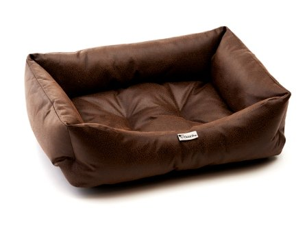 Chilli perro Vintage marrón de piel sintética sofá para perro Cama: Amazon.es: Productos para mascotas