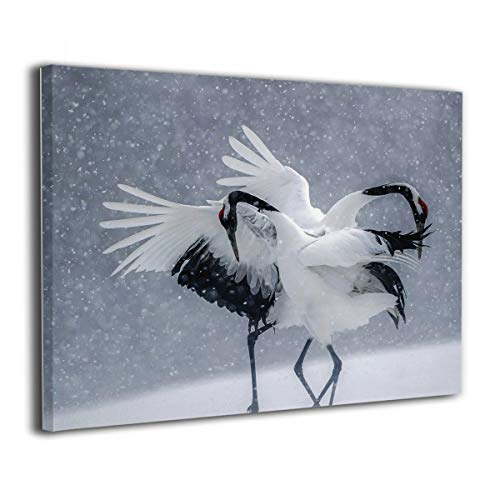 Little Monster Dancing Cranes Stretched Painting On Canvas Wall Decorations Occident Style Art for Childrens Bedroom