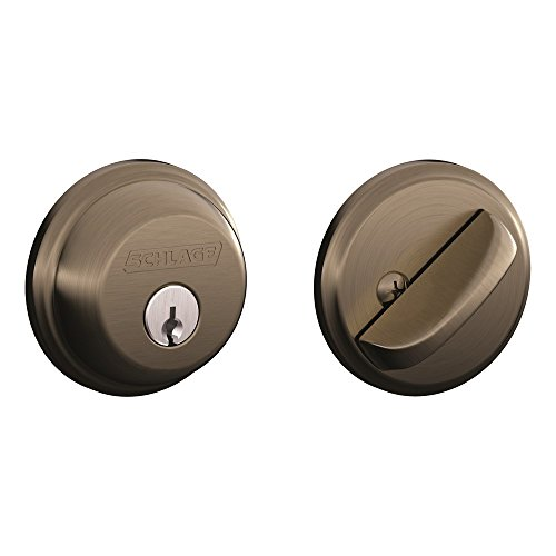 Schlage B60N620 Deadbolt, Keyed 1 Side, Antique Pewter