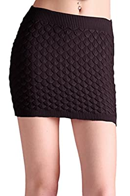Tyche Women's Sweater Knit Bandage Mini Skirt
