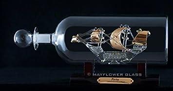 Sterling Effectz - Adorno de botella de cristal chapado en oro para decoración del hogar/regalos