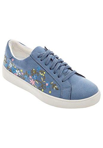 Comfortview Women's Plus Size Sailor Sneakers -