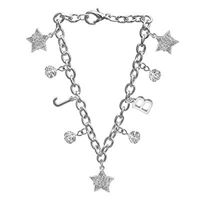 Justin Bieber Crystal Star Charm Bracelet