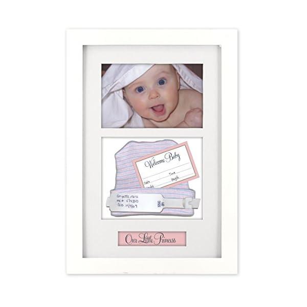 Malden International Designs Baby Memories Baby Memoto Shadowbox Picture Frame, 4×6, White