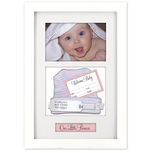 Malden International Designs Baby Memories Baby Memoto Shadowbox Picture Frame, 4x6, White