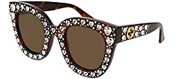HOLLYWOOD FOREVER Havana Crystal Heart Stud Sunglasses
