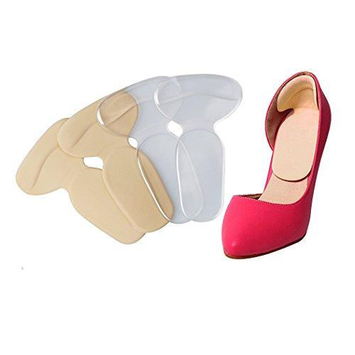 XIMIMEIES High Heel Pads Grips Liners No Slip Gel Foot Insert for Women Nude Color (Heel Slip High)