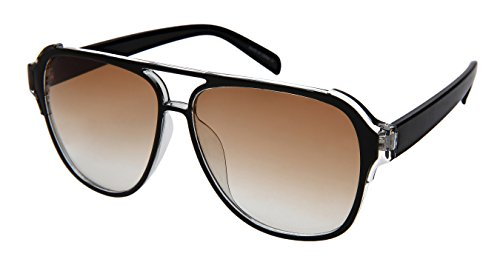 Edge-I-Wear Fashion Aviator Brow Bar Plastic Sunglasses - Aviator Ray Ii Light