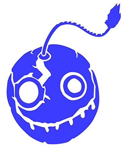 """Overwatch Junkrat Bomb Face Sticker Decal (8""""x6"""", Blue) -  HotSticker"""