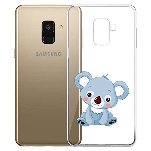 Funda para Samsung Galaxy A8 2018 (SM-A530) , IJIA Transparente Love Pony TPU Silicona Suave Cover Tapa Caso Parachoques Carcasa Cubierta para Samsung Galaxy A8 2018 (5.6) WM123