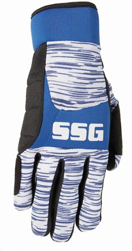Fargo Trading SSG Pro Team Streak Glove with Gel Pad XL (Blue Streak Gloves)