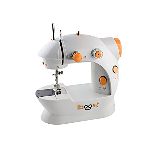 iBoost Portable Sewing Machine, Double-Thread, Cutter, and Foot Pedal, 2-Speed