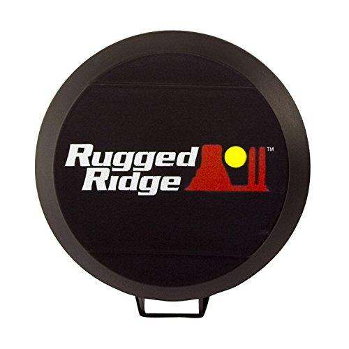 Rugged Ridge 15210.52 5″ Black HID Light Cover – Pair