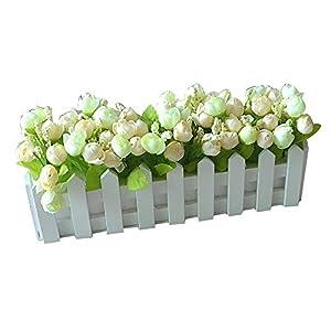 Artificial & Dried Flowers - Charming Artificial Plant Fashionable Fake Bud Flower Bonsai Fence Pot Living Room Decoratios - Flowers Artificial Dried Artificial Dried Flowers Free Silhouet 103