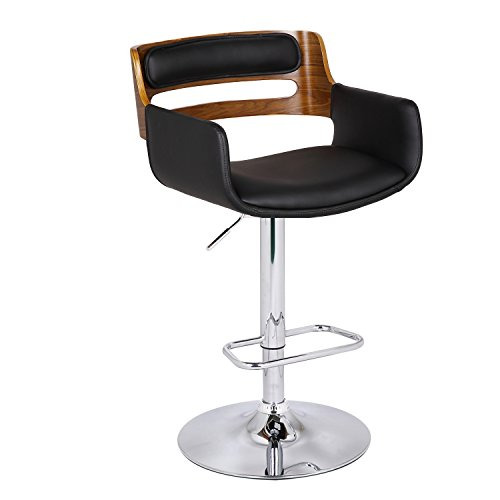 Joveco Bentwood Adjustable Height Barstool