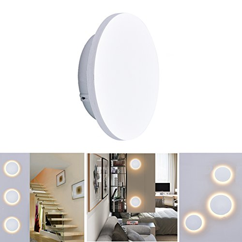 Wall lamp IP54 Waterproof Round Creative Wall Lights for Living Reading Room Hotel Gallery Corridor Bedroom Outdoors Outside Garden Hotel Gallery Decoration ()