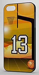 Basketball Sports Fan Player Number 13 Black Plastic Decorative iPhone 5c Case