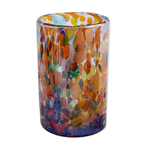 NOVICA Artisan Crafted Hand 157066''Carnival Blown Glass Tumbler, Set of 6, Bright by NOVICA (Image #1)