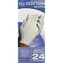 CARA Dermatological Cotton Gloves, Extra Large, 24 Pair by Cara