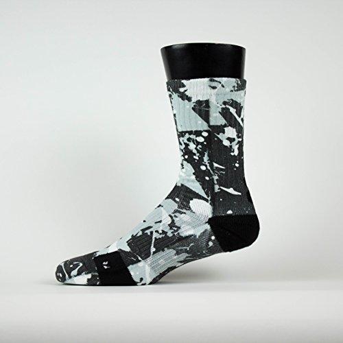 Custom Blue Gray Splatter SS Athletic Socks