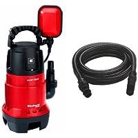 Einhell GH-DP 7835 - Bomba sumergible aguas sucias (780 W, 15.700 litros por hora) color rojo y negro + Manguera de…