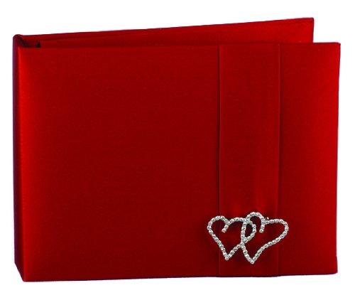 With All My Heart Guest Book (Hortense B. Hewitt Wedding Accessories With All My Heart Guest Book, Red Claret)