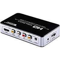 Tendak Multifunctional HDMI Switch Converter Composite Video 3RCA AV CVBS / USB Video / HDMI to HDMI Audio Extractor Adapter via Coaxial and 3.5mm Jack for PS4 Roku Blu-ray