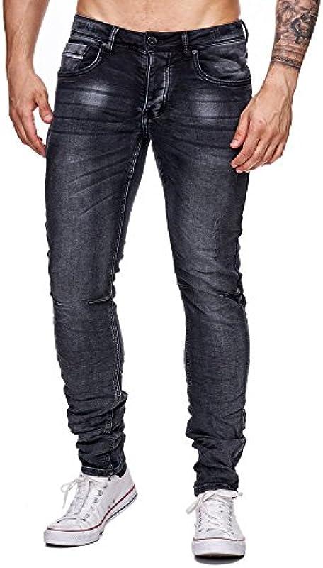 Mega styl Biker dżinsy męskie spodnie do elastycznej konstrukcji Denim Slim-Fit Crawl Extra komfort: Odzież