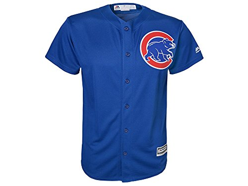 Majestic Athletic Chicago Cubs Alternate Blue Cool Base Youth Jersey (youth small 8)