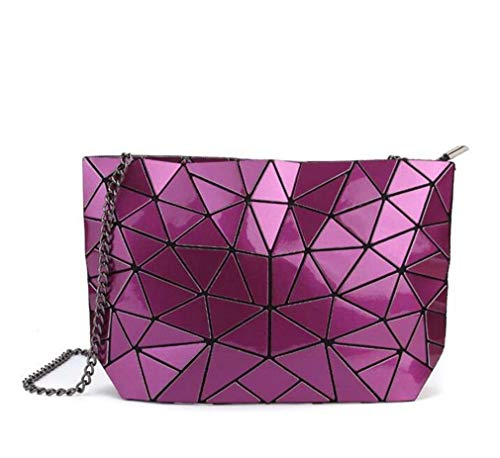 Chain Mini Clutch Purple Women's Women's Fashion Beach Clutch Beach Mini Holographic Holographic Fashion Chain 1vwHvzqf