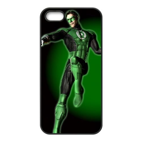 Green Lantern 008 coque iPhone 4 4S cellulaire cas coque de téléphone cas téléphone cellulaire noir couvercle EEEXLKNBC25505
