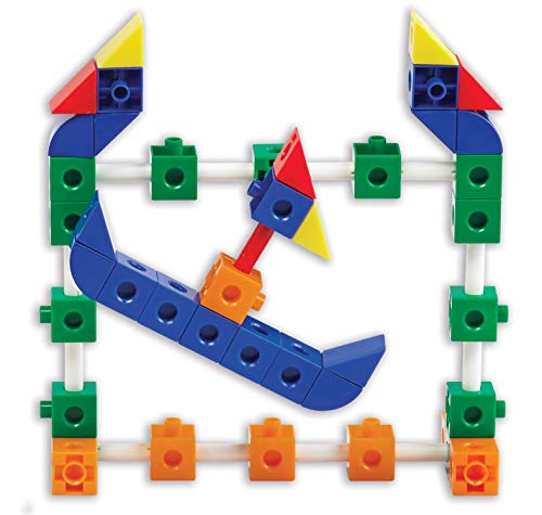 edx education Theme Park Construction Set - Linking Cubes - Educational Counting and Construction Toy - Ferris Wheel, Roller Coaster, Swing Ride and More!