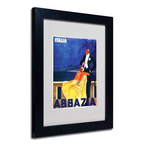 Italia Abbazia Framed Matted Canvas Art, 11 by 14-Inch, ()