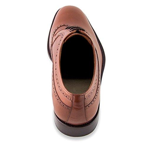 Masaltos Zapatos de Hombre con Alzas Que Aumentan Altura Hasta 7 cm. Fabricados EN Piel. Modelo Lexter Marron