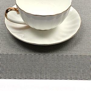 Placemat,U'Artlines Crossweave Woven Vinyl Non-slip Insulation Placemat Washable Table Mats Set of 6 (6pcs placemats, Grey) by U'Artlines (Image #8)